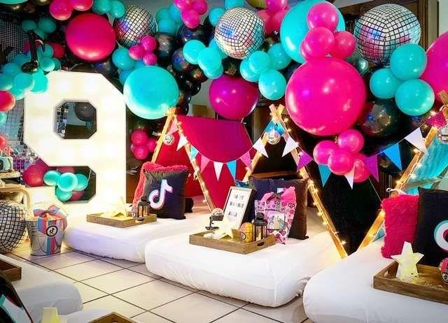 Tiktok Birthday Party Ideas Photo 1 Of 10 Teepee Party Girls Birthday Party Themes Birthday Sleepover Ideas