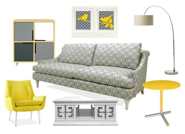 Tendencias de color en salas: gris y amarillo