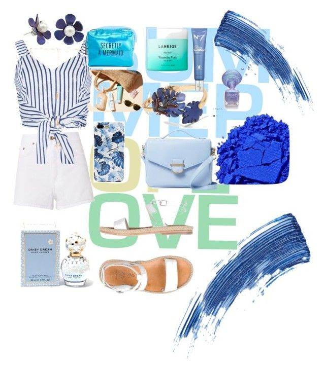 """""""Summer blue"""" by pusheencute on Polyvore featuring rag & bone, WithChic, n.d.c., Cynthia Rowley, Natalie B, Banana Republic, Pinch Provisions, Laneige, Marc Jacobs and Eyeko"""