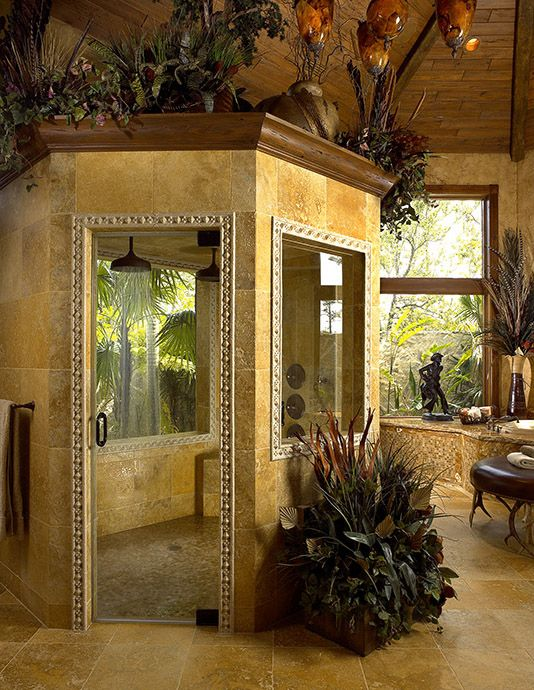 Can you imagine having a shower like this?!