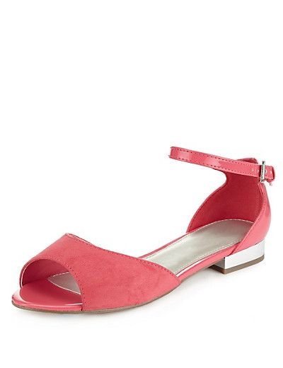 Wide Fit Ankle Strap Sandals with Insolia Flex®