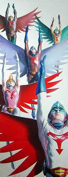 One of the first anime I ever watched. Gatchaman | Battle of the Planets by Alex Ross