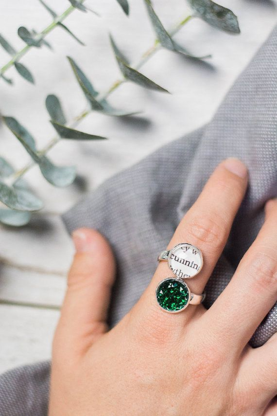 This ring that glitters and shows off their most Slytherin trait. | 35 Things To Buy Your Favorite Slytherin