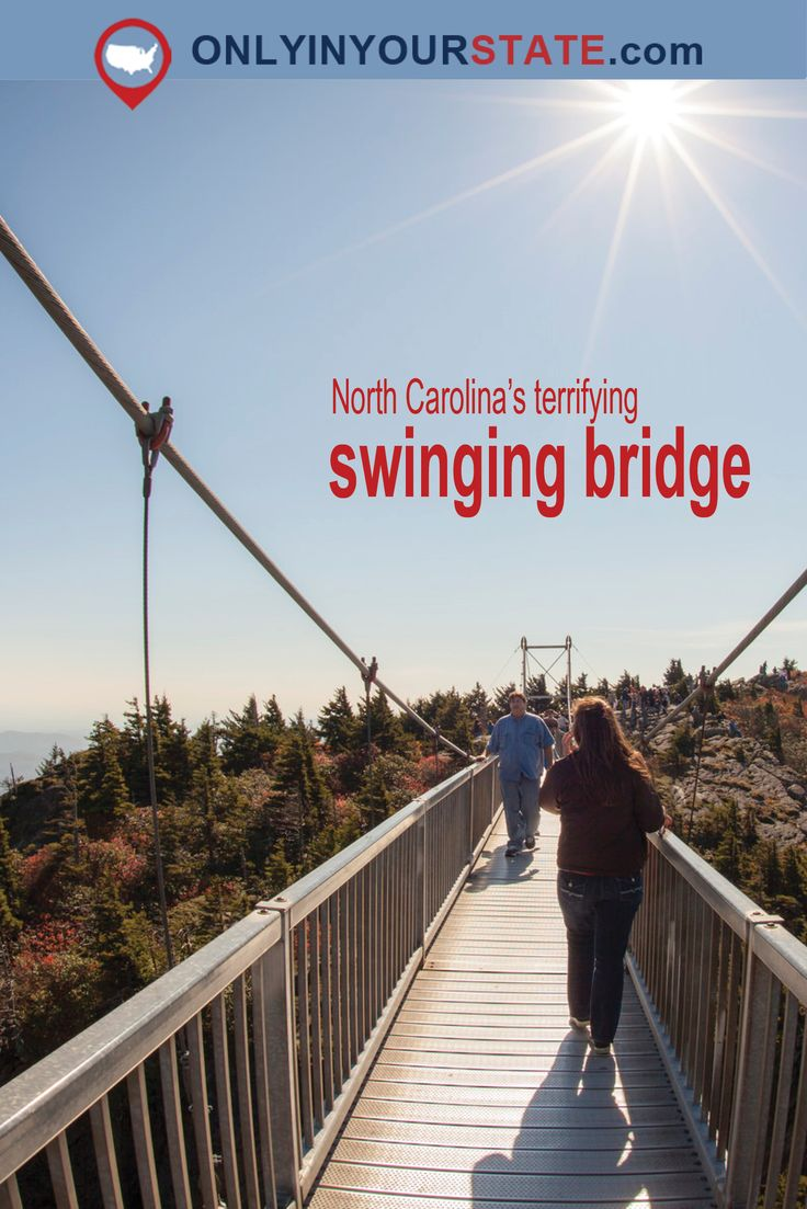 Travel   North Carolina   USA   Swinging Bridge   Grandfather Mountain   Mountains   Places To Visit   Unique Attractions   Thrill Seeking   Amazin Places