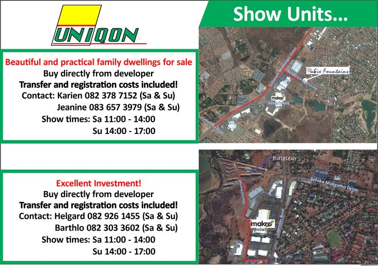 Show Units  Contact charl@uniqon.co.za