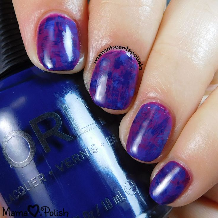 Orly In the Mix Dry Brush Nail Art - distressed nails.