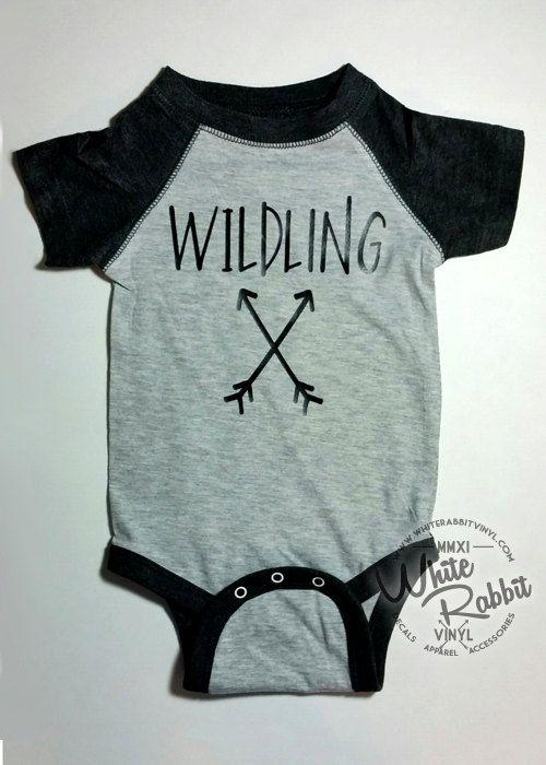 Wildling Game of Thrones inspired infant baby Funny Onesie TShirt