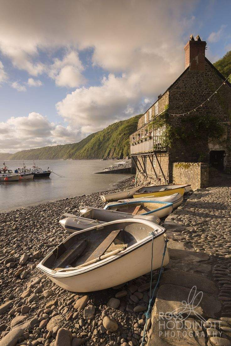 Clovelly Harbour, Devon, England                                                                                                                                                     More
