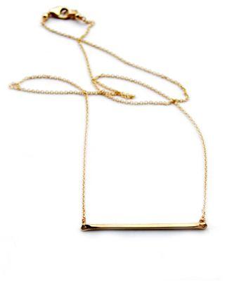 . . handmade tiny bar . .Necklaces 49, Handmade Tiny, Tiny Bar, S'Mores Bar, Bar Necklaces, Everyday Necklaces, Minoux Tiny, Simple Necklaces, Gold Bar Necklace
