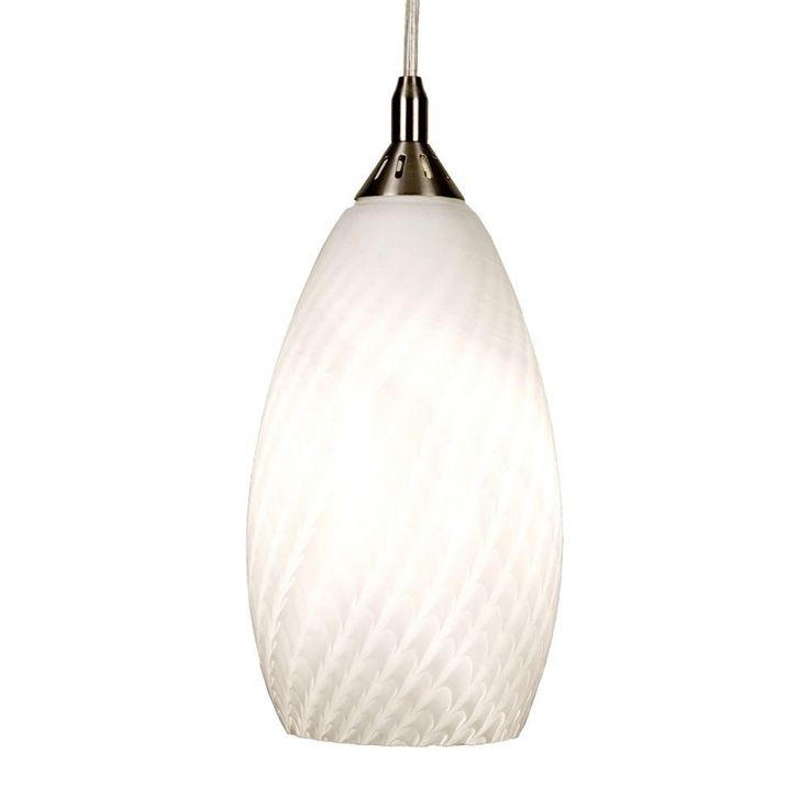 Home decorators collection 1 light white ceiling pendant with art glass shade