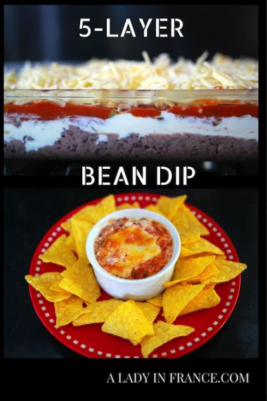 Perfect for summer! 5-layer Bean Dip with @aladyinfrance