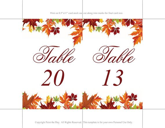 8 best Wedding Table Numbers images on Pinterest Wedding tables - editable leaf template
