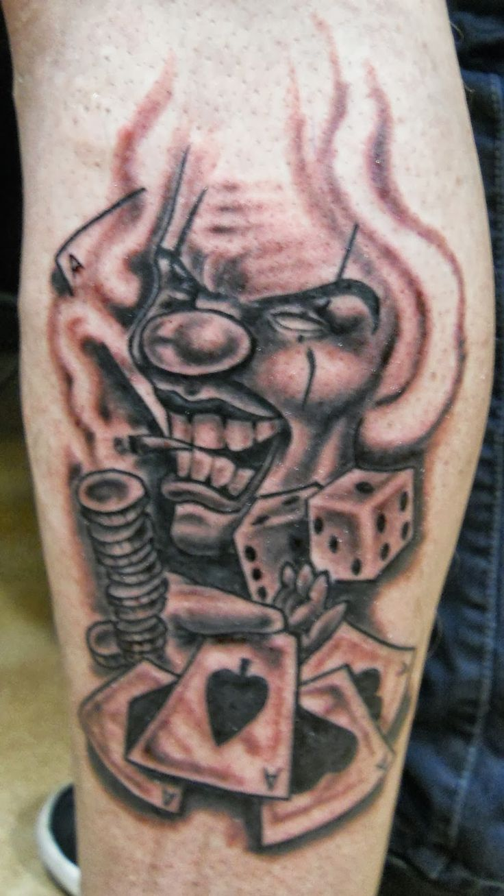 34 best Gangster Clown Tattoo Designs images on Pinterest ...