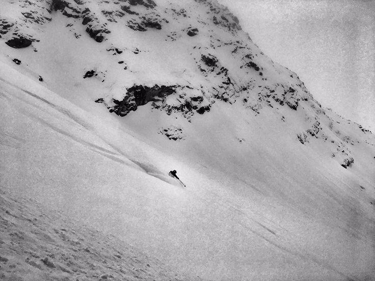 Pure ski, pure snow, pure day.  #ski#powder#pure