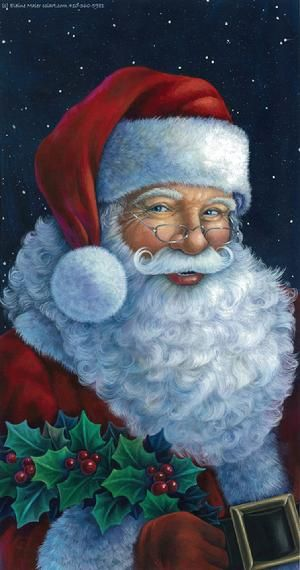 MERRY CHRISTMAS! To my fellow Sweets We Crave! board pinners and followers: Best wishes to you and yours for a meaningful holiday and blessed New Year! ~Stacy [Santa by Elaine Maier]