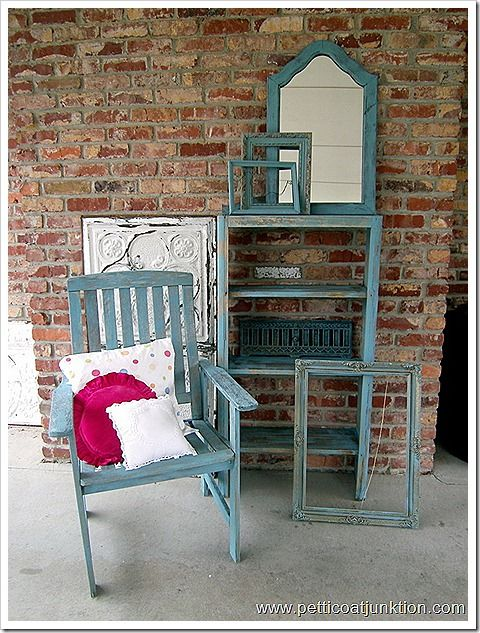 turquoise furniture makeovers, I painted my bookshelf in my room like this. Great statement piece.