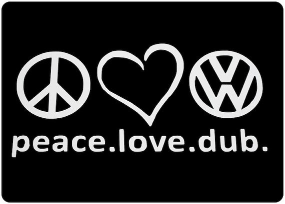 Volkswagen Decal  Peace Love Dub Car Window Decal  by VillageVinyl, $3.99