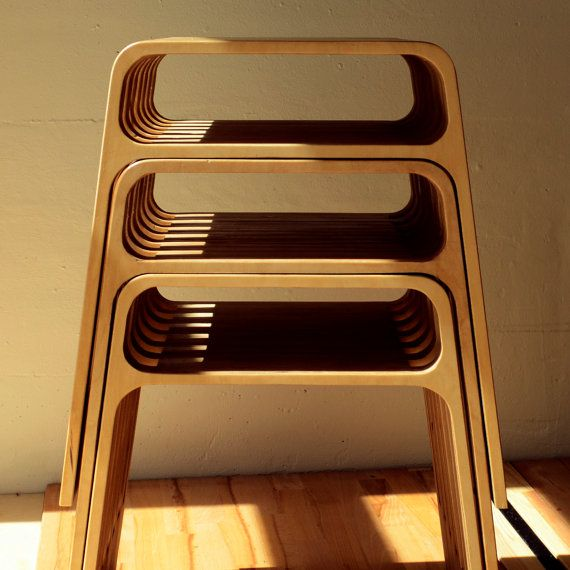 one birch plywood stool by doubleyouEm on Etsy, €200.00