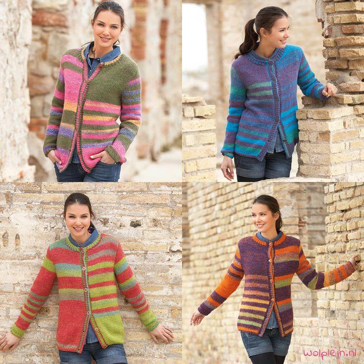 Een lekkerwarm en kleurrijk gestreept vest breien? Met de bollen van Katia City is dat zo gepiept. Bekijk het gratis patroon hier!