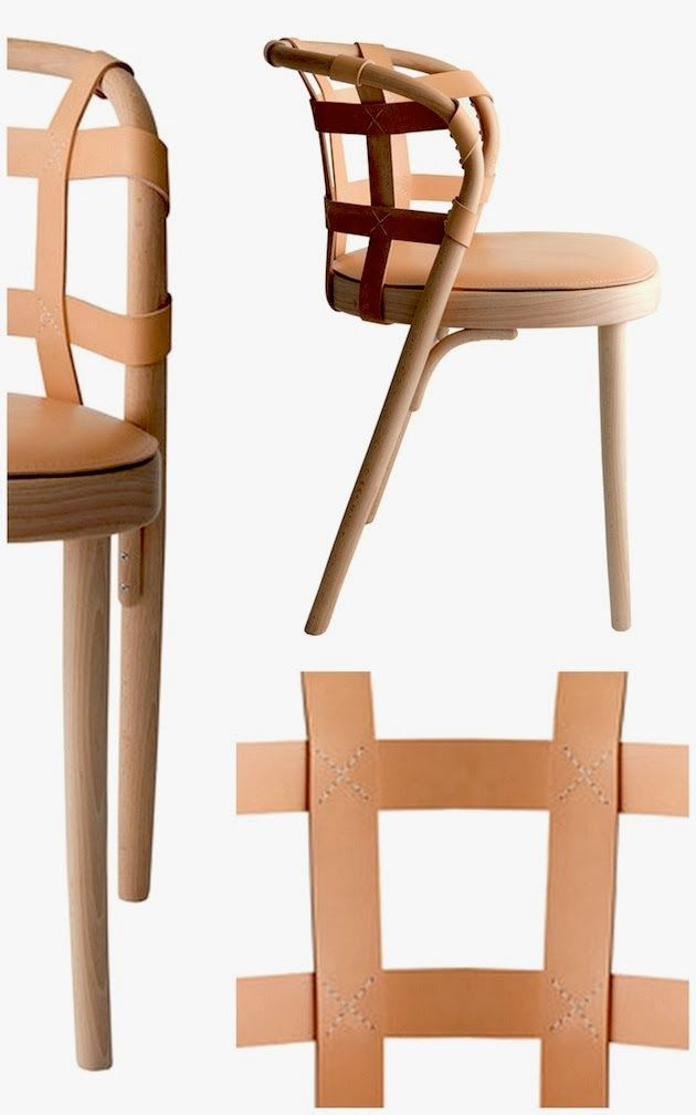 Chair in wood and leather by the (many times over) award winning Swedish design team Front.