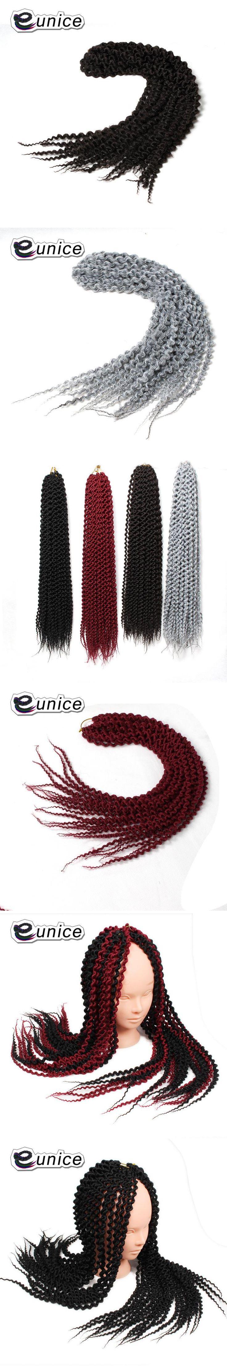 "Synthetic Braiding Hair Island braids 22"" unraveled Curly Senegalese Twist Braids BUG Grey Black High Temperature Fiber 1 pack"