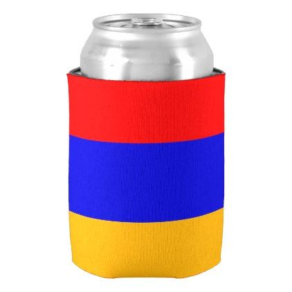Can Cooler with flag of Armenia - kitchen gifts diy ideas decor special unique individual customized
