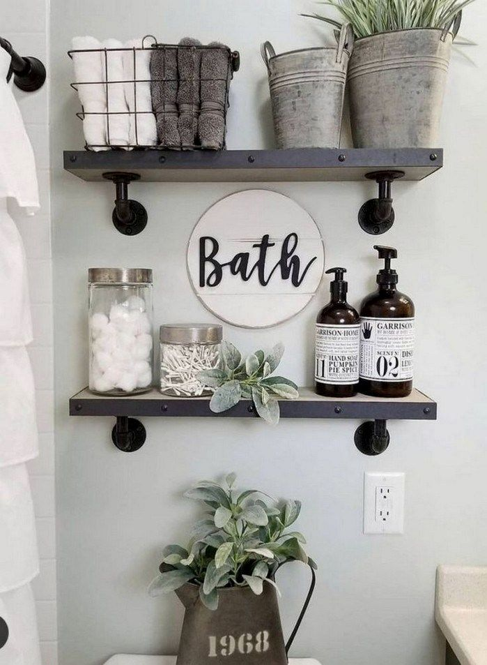 Diy Bathroom Decor Ideas In 2020 Farmhouse Bathroom Decor Small Bathroom Decor Bathroom Design Small