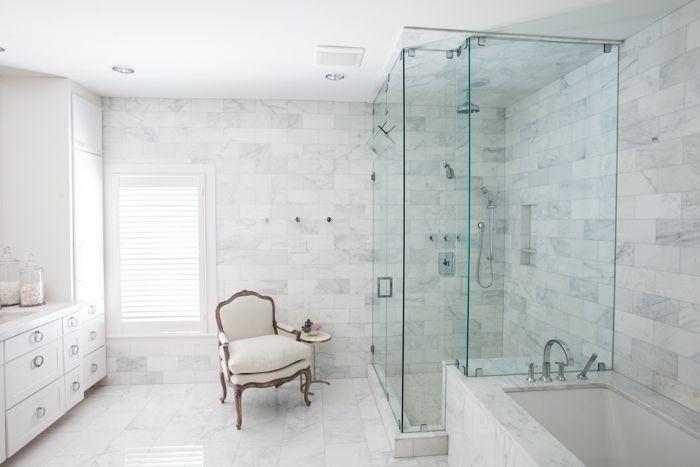 Creative Tonic - Courtnay Tartt Elias: Custom built marble master bathroom; Julie Soefer Photography