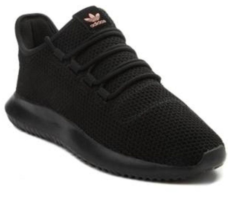 Beautiful all black Adidas tubular shadow athletic shoe
