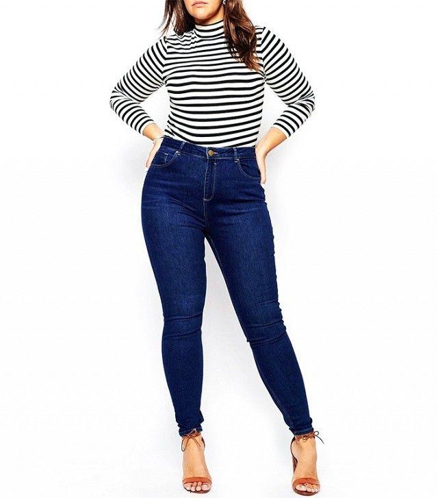 ASOS Curve Lisbon Mid Rise Skinny Jeans