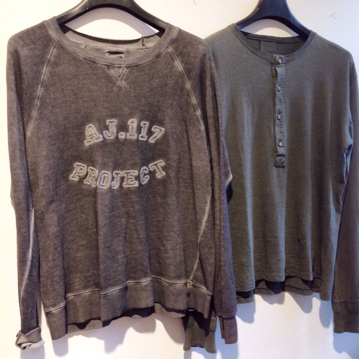 #aj117project Herre sweatshirt 499,- langærmet undertrøje 299,-