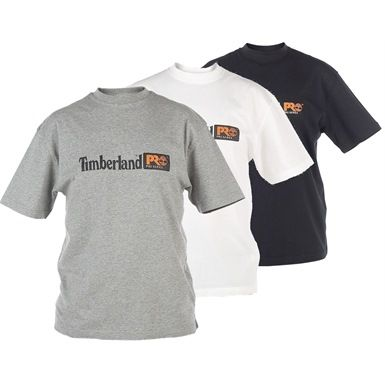 Available in 3 colours, these stylish Timberland Pro 306 Short Sleeve T-shirts are sure to make you stand out from the crowd with their emblazoned branded logo. Comfortable pre-shrunk 100% cotton garments.