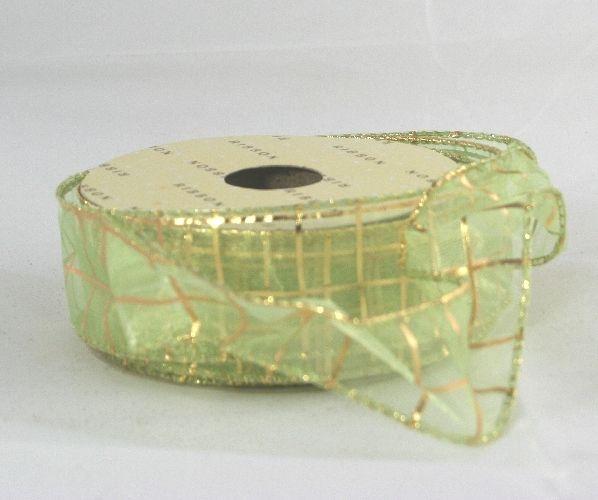 Nastro con bordo animato per fiocchi perfetti. Verde deco oro. Lungo 10 mt H.40 cm. Decora l'Albero di Natale, centrotavola o decorazioni per tutte le occasioni. By C&C Creations Store