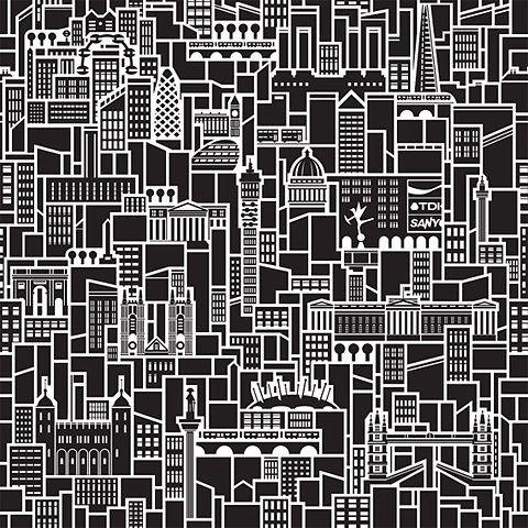 """City pattern"" in City illustration"