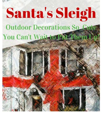 Vintage sleigh Outdoor santa
