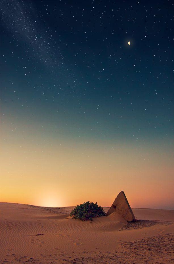 Under the stars at Stockton Beach / Port Stephens, New South Wales, Australia
