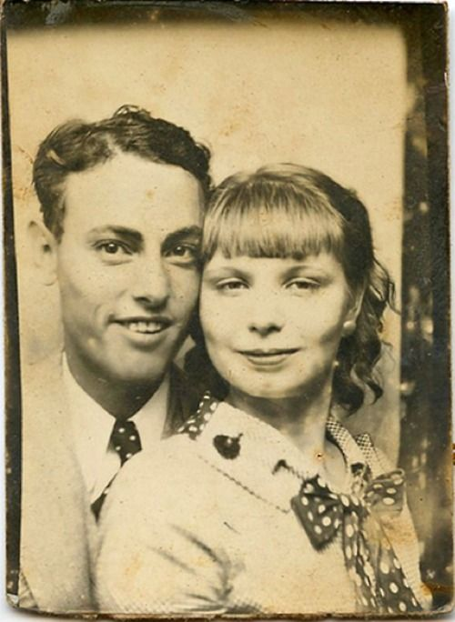 Ray and Florence - photo booth, 1934
