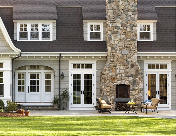 Sears Road   Traditional   Exterior   Boston   By Oak Hill Architects Outdoor  Fireplace :)