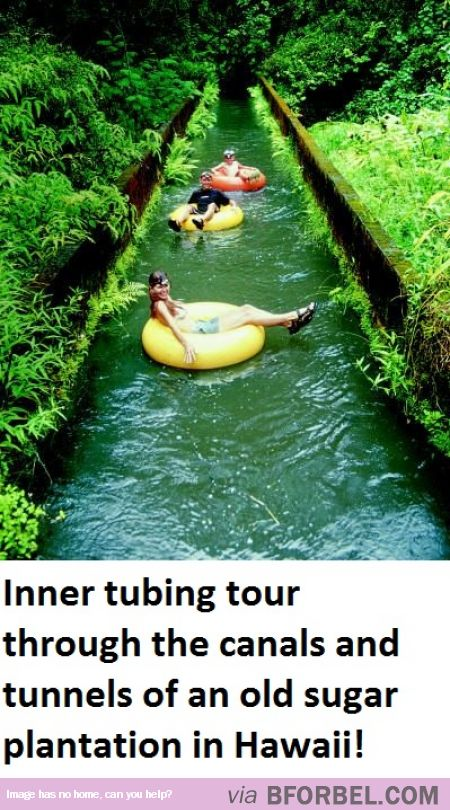 I will be doing this the next time I am in Kauai, so very excited! It goes through tunnels and there are supposed to be some scenic views.