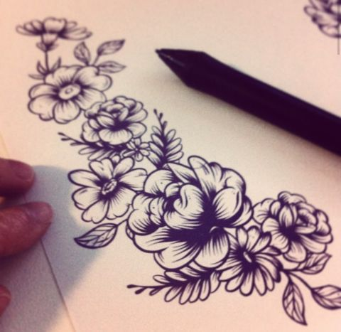 I want this on the side of my stomach or my arm...