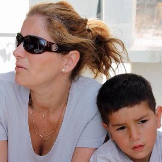 Geraldine e hijo