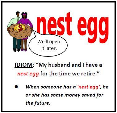 English Idioms - nest egg