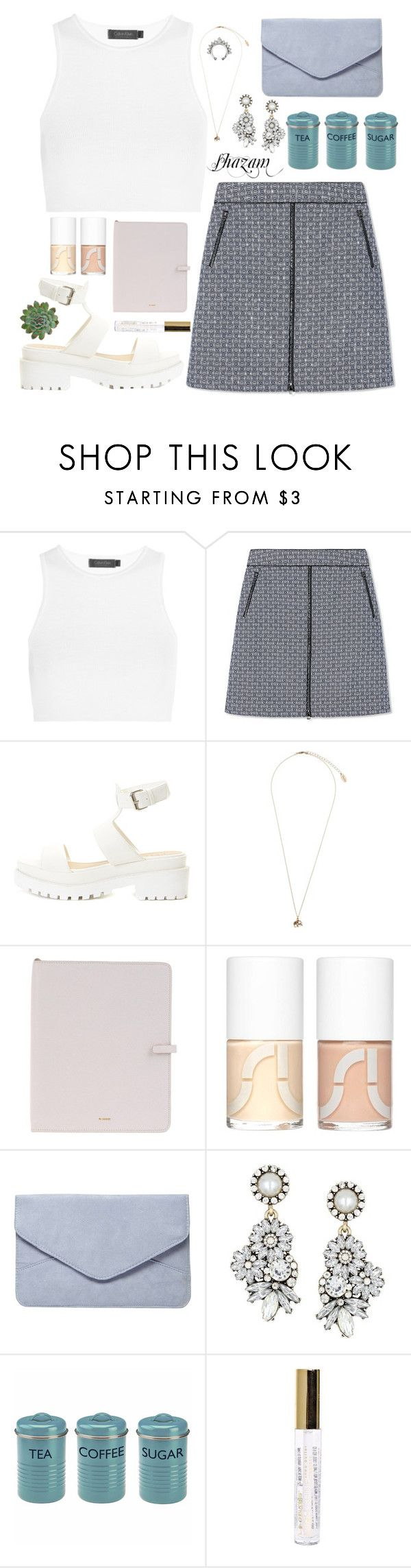 """""""Dory"""" by anishagarner ❤ liked on Polyvore featuring Calvin Klein Collection, Tory Burch, Topshop, Jil Sander, Uslu Airlines, Dorothy Perkins and L.A. Colors"""