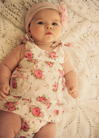 This outfit is so precious. headband ... way to cute.
