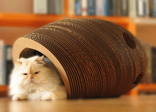 CARDBOARD FURNITURE: The Cat Cocoon.