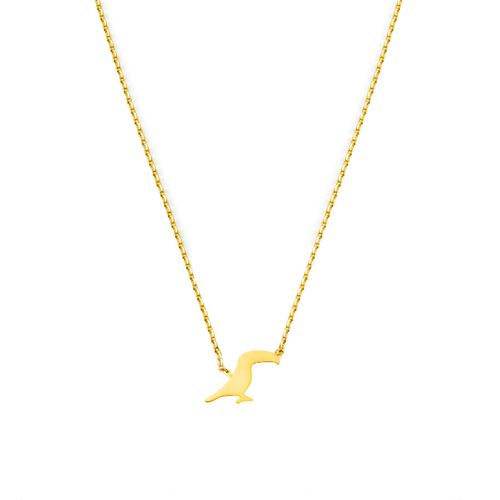 TOUCAN NECKLACE GOLD | Flor Amazona