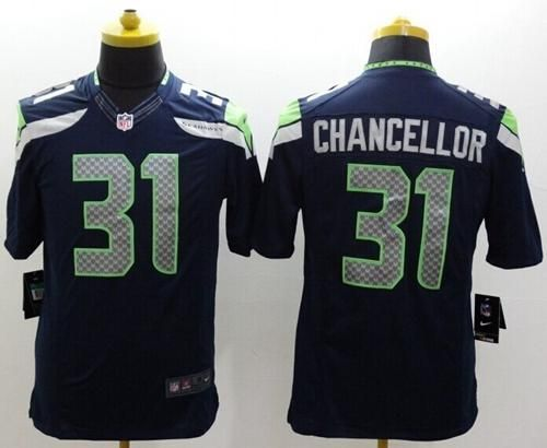 Nike Seahawks #31 Kam Chancellor Steel Blue Team Color Men's Stitched NFL Limited Jersey 25% Off All Cycling Jerseys