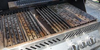how to clean cast iron grill grates on stove