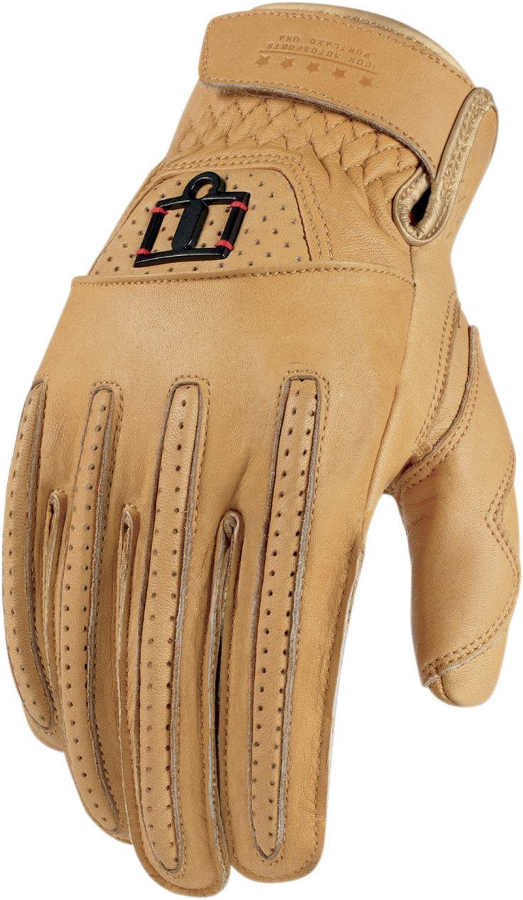 Icon justice leather motorcycle gloves - Icon 1000 Rimfire Glove Tan