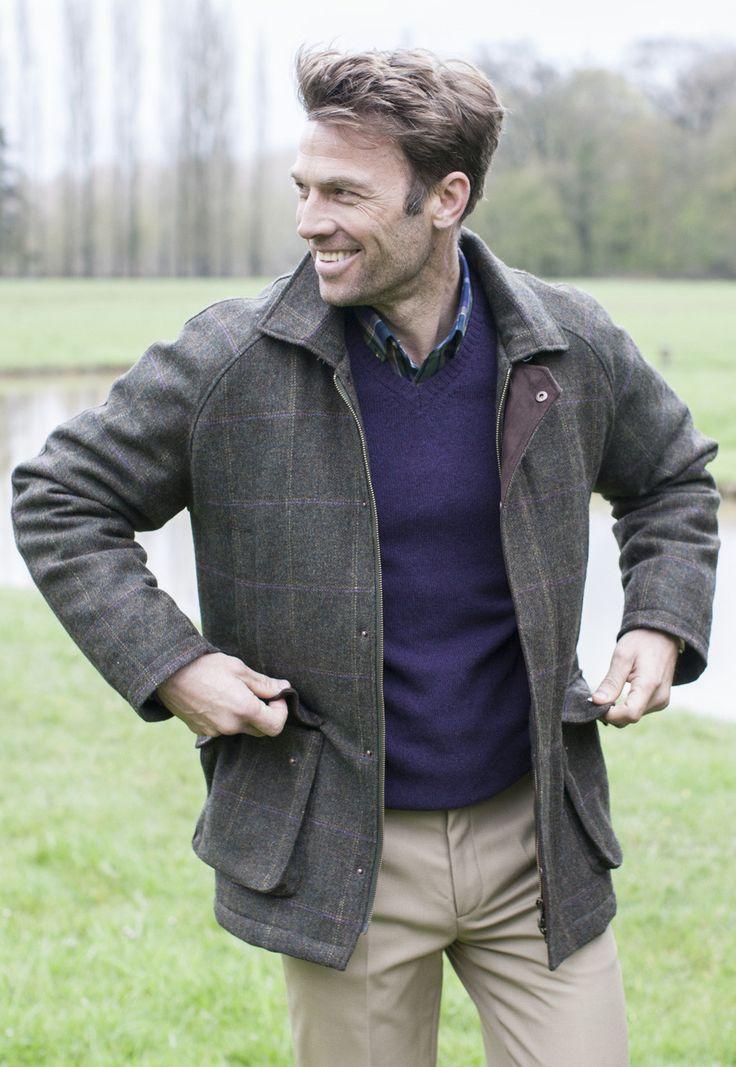 Tweed Shooting Coat, Brown